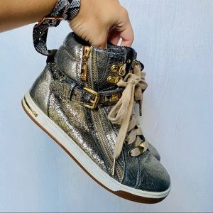 Michael Kors Glam Studded High Top Sneakers